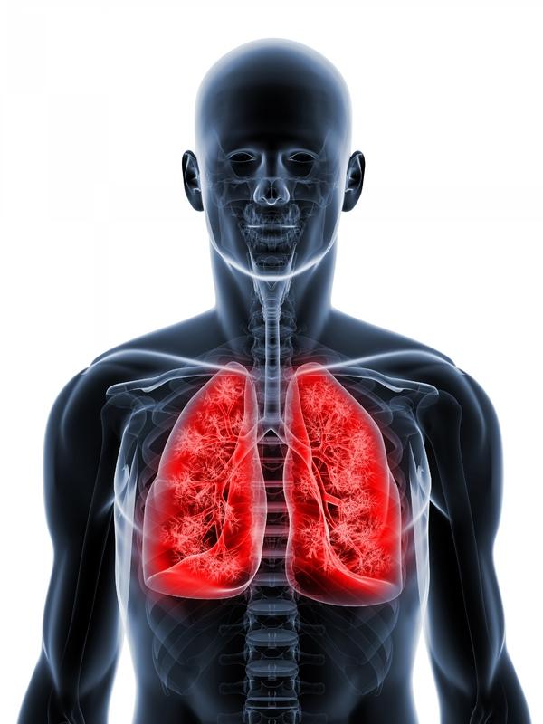 svarta prickar på lungorna
