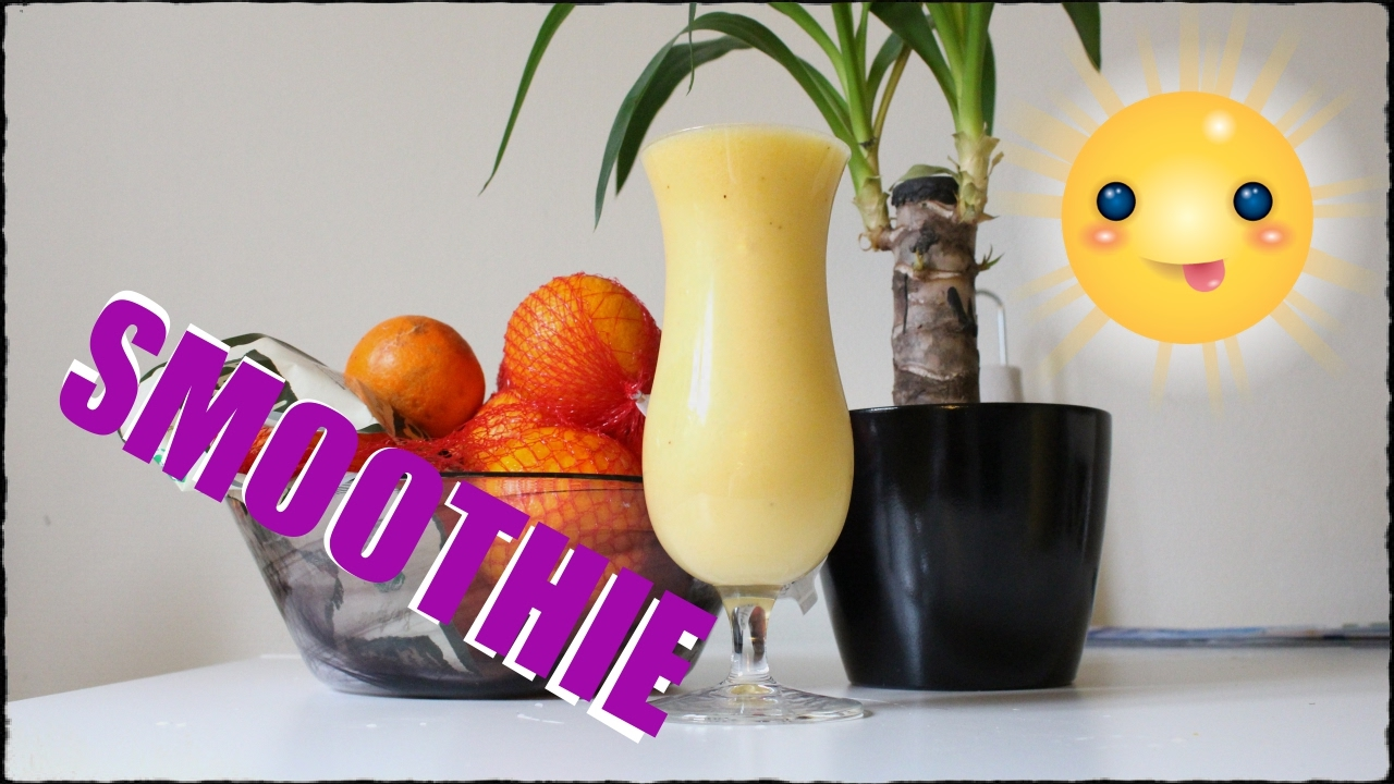 Vegansk Apelsin Smoothie med Mango och Bananer utan Yoghurt
