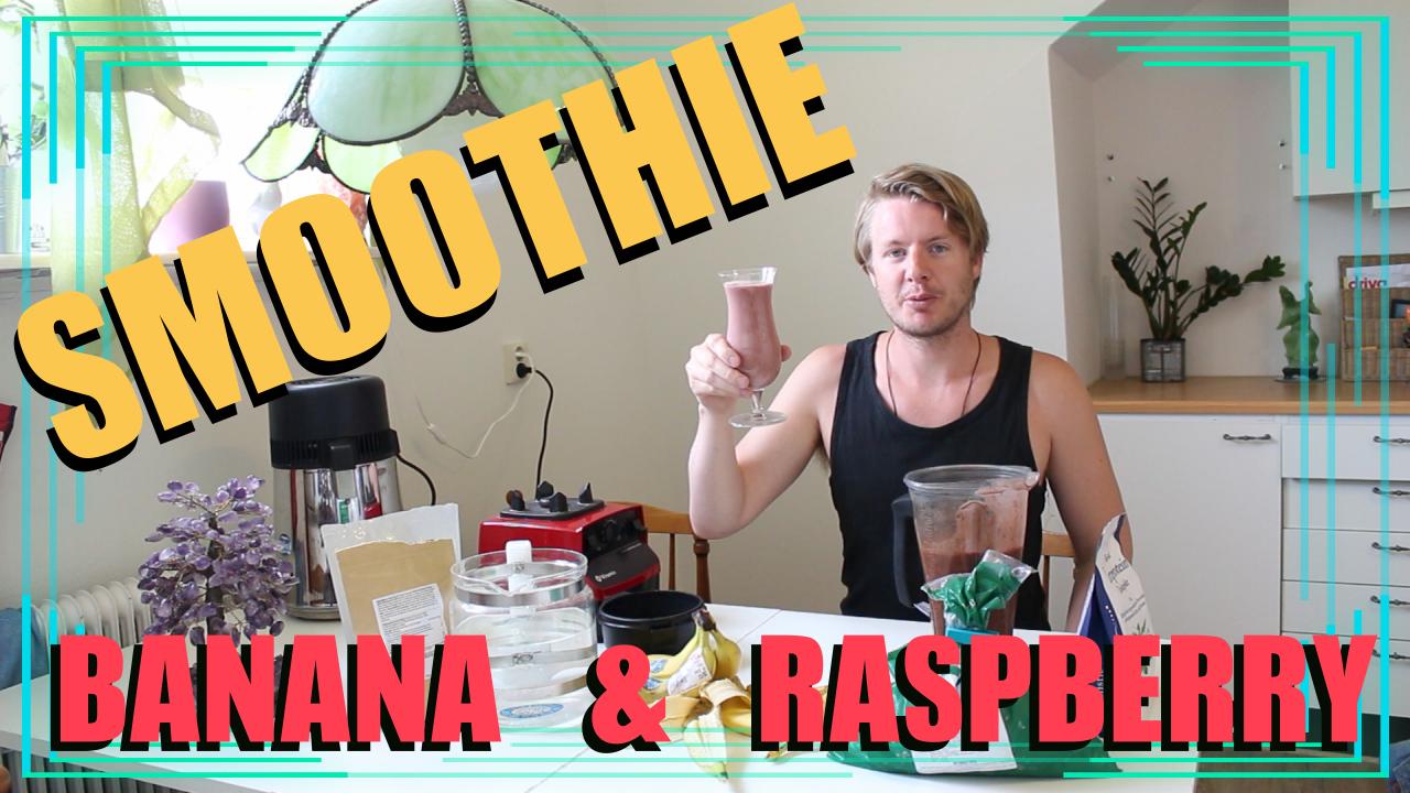 Hur man gör en smoothie utan yoghurt eller mjölk – Banan och hallon smoothie 2018